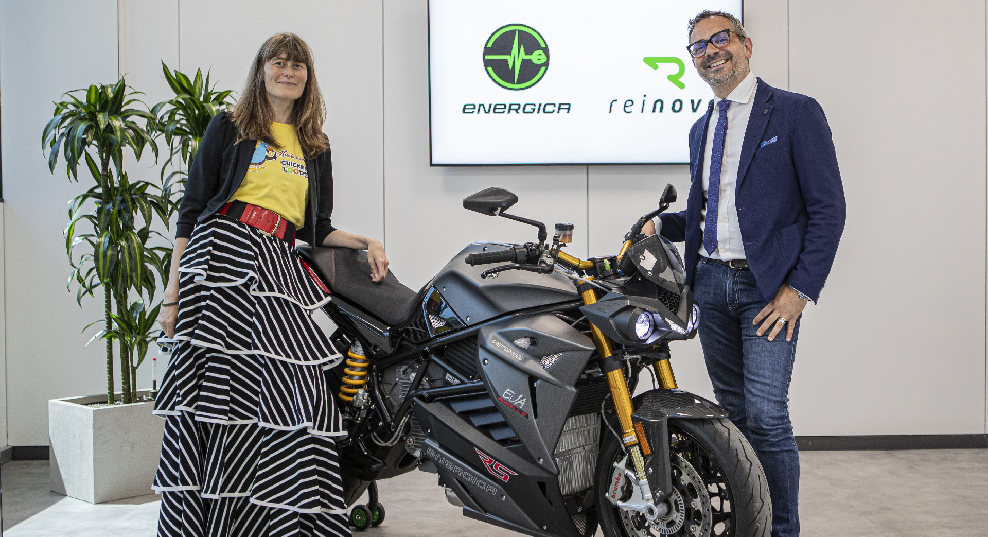 New technological partnership between Energica Motor Company S.p.A. and Reinova